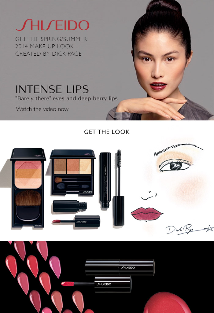 Shiseido - Get the spring summer 2014 make-up look created by Dick Page. Intense lips